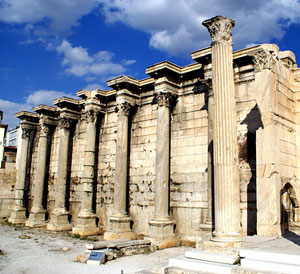 Ancient Athens Hadrian Library