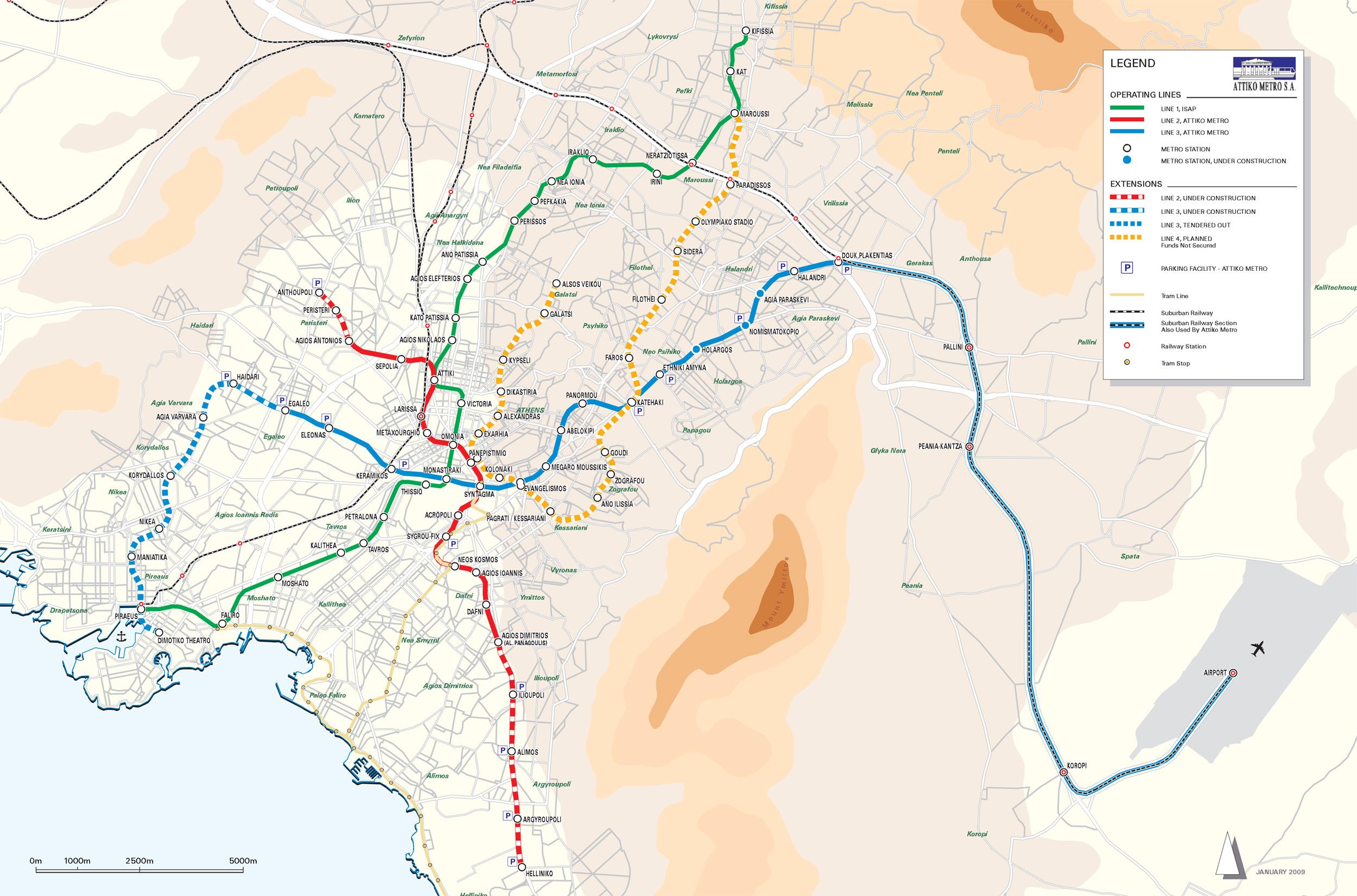 Athens Metro Map - Us metro map