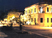 athens by night - Dionysiou Areopagitou Street in Thesseion Athens